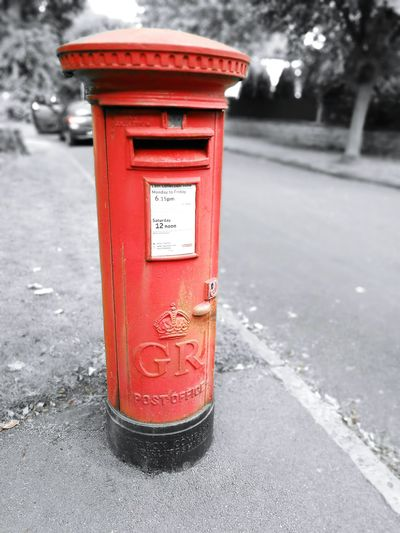 Royal Ciphers King George Red Post Box