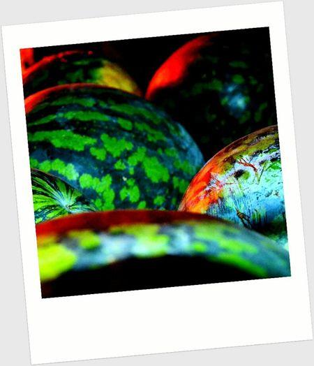 макро ягода Арбуз зеленый