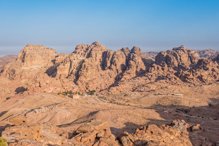 Petra from above Clear Sky High Angle View Jordan Middle East Petra Tourist Attraction  Travel Travel Photography UNESCO World Heritage Site The Great Outdoors - 2016 EyeEm Awards Landscapes