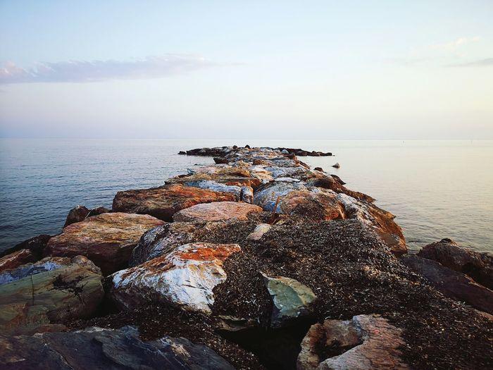 Groyne Amidst Sea