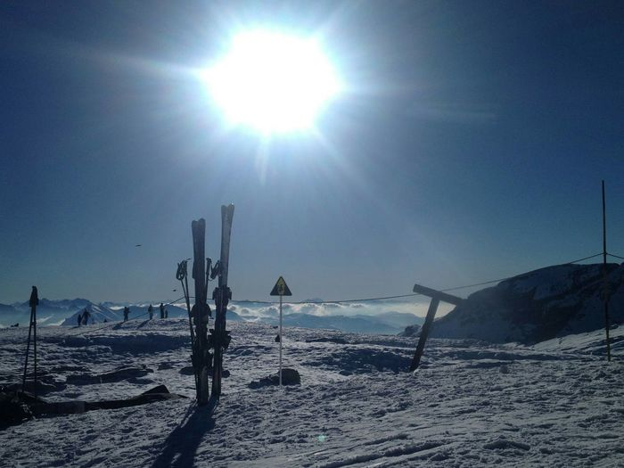 Skistation Flaine France Sky Sea Nature Beauty In Nature Beach Outdoors Sun Tranquility Water Cold Temperature Scenics No People Day