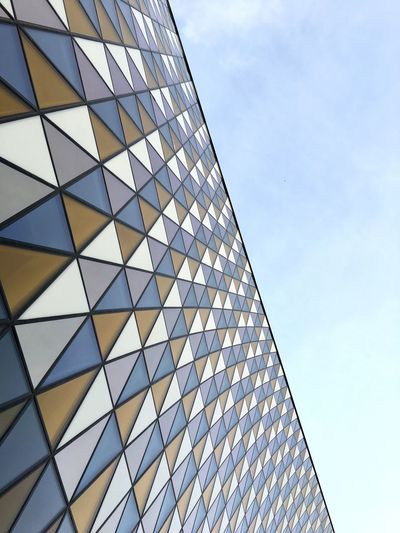 Sky Architecture Low Angle View Building Exterior Built Structure Cloud Modern Cloud - Sky No People Pattern City Day Outdoors Office Block Minimalist Architecture