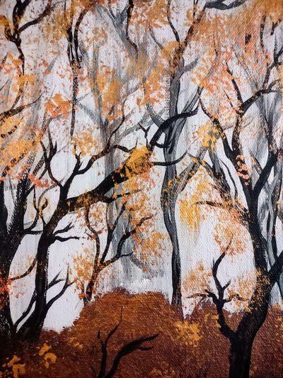 Full frame shot of trees during autumn