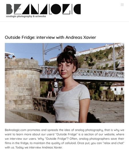 An article about me. You can read the interview here: https://www.beanalogic.com/outside-fridge-interview-with-andreas-xavier/ Film Photography Magazines Beanalogic Analogue Photography Buyfilmnotmegapixels Interview Analog 15minutefame Arts Culture And Entertainment