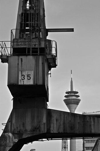 Building the future Architecture Building Development Düsseldorf Hafen Düsseldorf ♡ Fernsehturm Industrial Industry No People Technology Tower