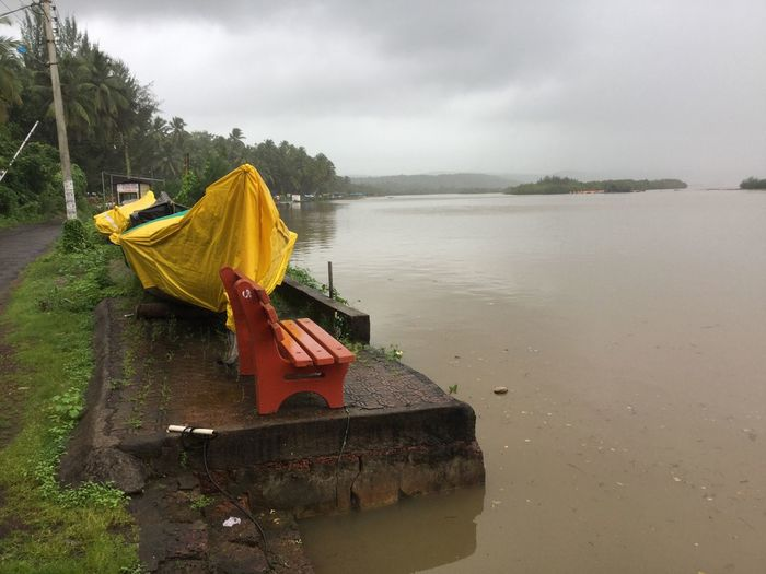 Solotraveler Malvan Konkandiaries Konkan Water Nature Sky Day No People Reflection Beauty In Nature Tranquil Scene Rain Outdoors First Eyeem Photo