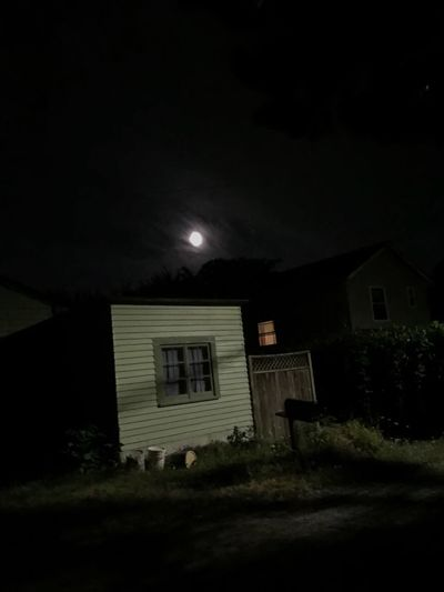 Moon Moonlight Moonshine Night Sky Residential Structure Rural Scene Outdoors Dark Views Perspective Illuminated Window Landscape Abstractions Still Life Scenics No People Empty Road Residential Building Cottage House