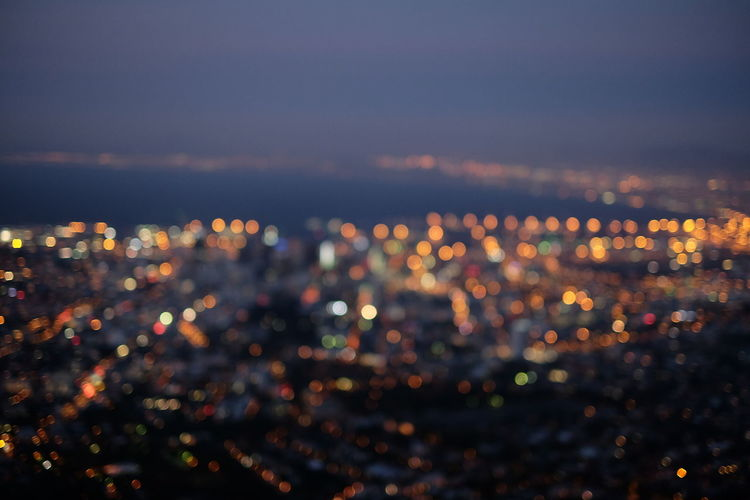 Built Structure City Cityscape Dark Defocused Dusk Glowing High Angle View Illuminated Night No People Outdoors Residential District Sky