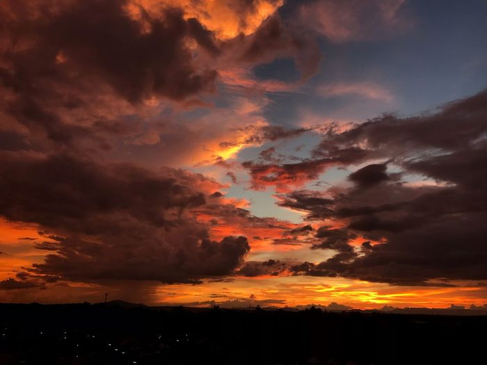 Sky Sky Cloud - Sky Beauty In Nature Sunset Orange Color Scenics - Nature A New Beginning Nature Storm This Is Natural Beauty