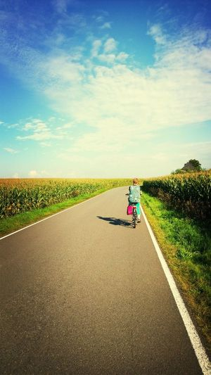 Road Bike fiets mais corn Just Around The Corner My Country In A Photo Holland The Netherlands The Traveler - 2015 EyeEm Awards