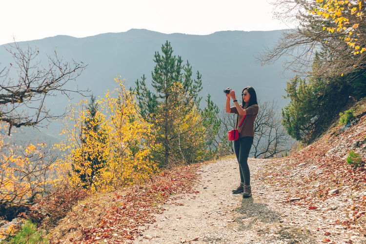 People photographing during autumn