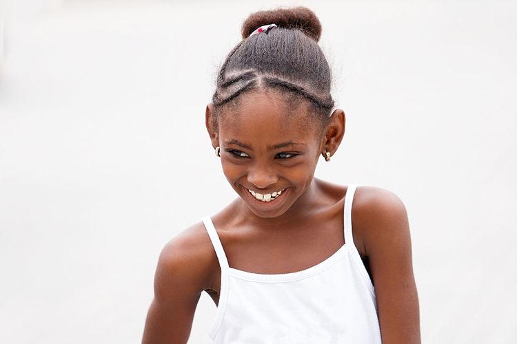 smiling girl ,