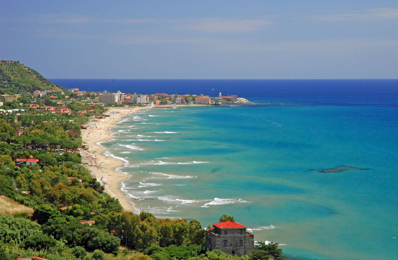 cilento coast view Architecture Beach Beauty In Nature Blue Building Exterior Built Structure Day High Angle View Horizon Horizon Over Water Land Nature No People Outdoors Plant Scenics - Nature Sea Sky Tree Water My Best Travel Photo