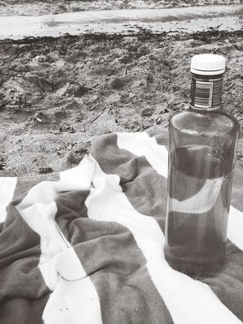 Bottle Beach Water Day Sea Sand Summer Blackandwhite Mallorca