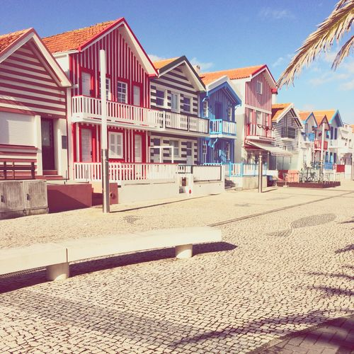 Aveiro Portugal Pijamas Houses Beautiful Day Infrontofthesea Colors