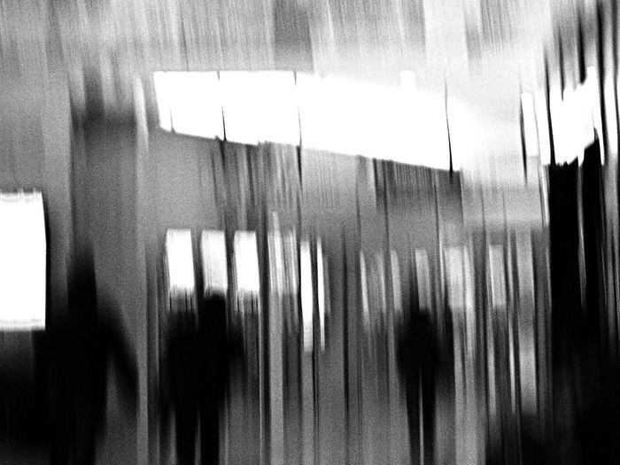 Shadows at the train station, my last attempt for glitch Absence Abstract Blackandwhite Blurred Motion Glitch Indoors  Monoart Monochrome Shadows Transparent