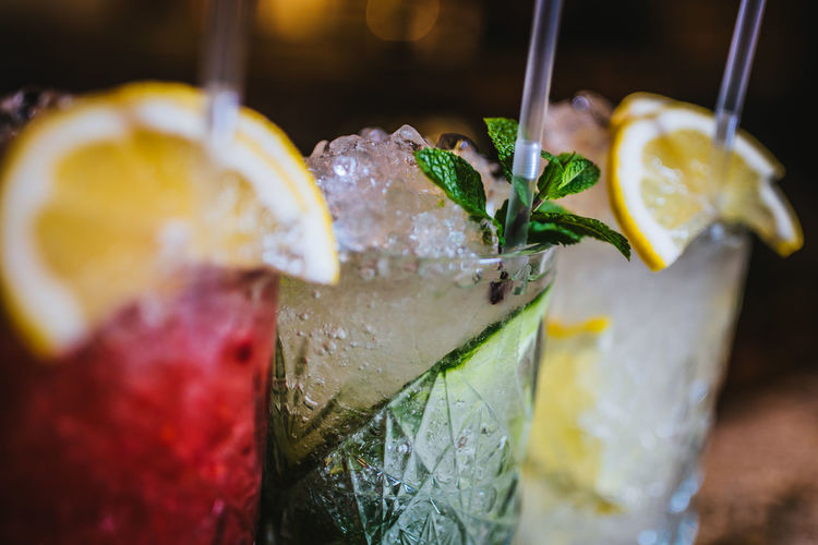 Close-Up Of Drinks