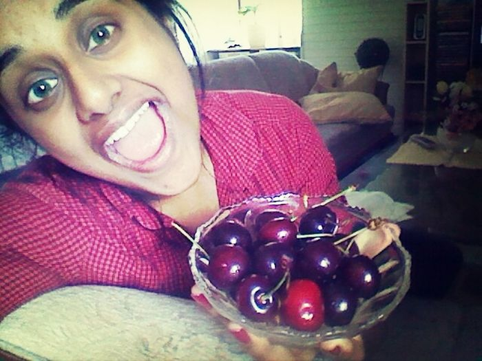 Green Eyes Yummy Cherries First Eyeem Photo