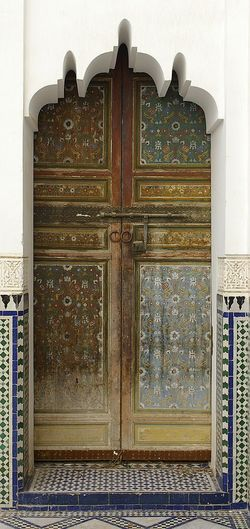 Riaddoor in Marrakech Door Architecture Closed Built Structure Building Exterior Old-fashioned Marrakech Islamic Architecture Islamic Art