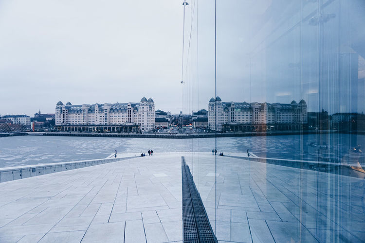 Symmetry Architecture City Cityscape Mirror Norway Oslo Outdoors Pastel Colors Reflection Sunset Symmetry Winter