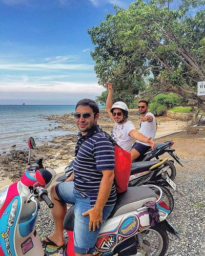 Roadtrip on scooters along the coast... best ever!!! Roadtrip Vacation Holiday Thailand Scooter Bike Moped Motorcycle Sunny Friends Happy GoodTimes Travel Sightseeing Amazing Beautiful Scenery Nature Smiles Photography Photooftheday Instagood Like4like Instadaily Beach sky sea