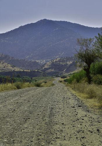 Dirt road in