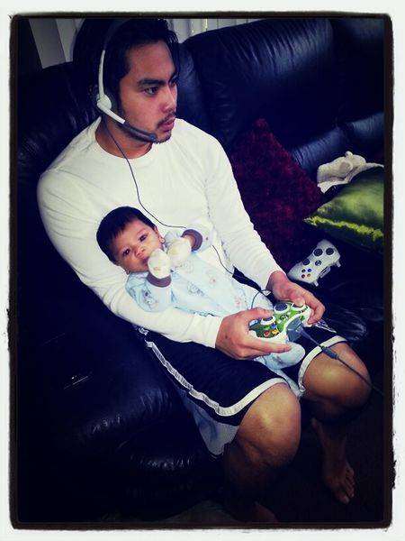 Gaming already, just like his Titos