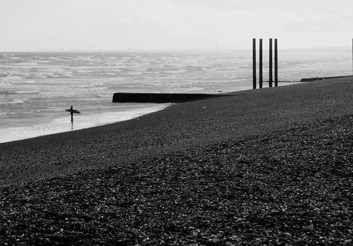 Brighton Uk Brighton Brighton Beach Brightonbeach Surfer From Where I Stand Blackandwhite Black And White Ocean Ocean View Waves Waves, Ocean, Nature Beachphotography Beach Photography Seaside Taking Photos Landscape The Street Photographer The Street Photographer - 2017 EyeEm Awards