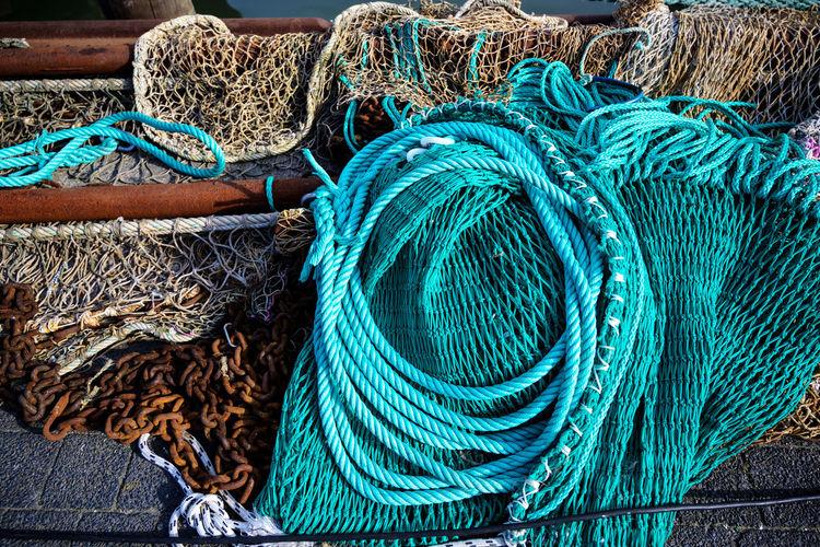 Close-up of fishing net