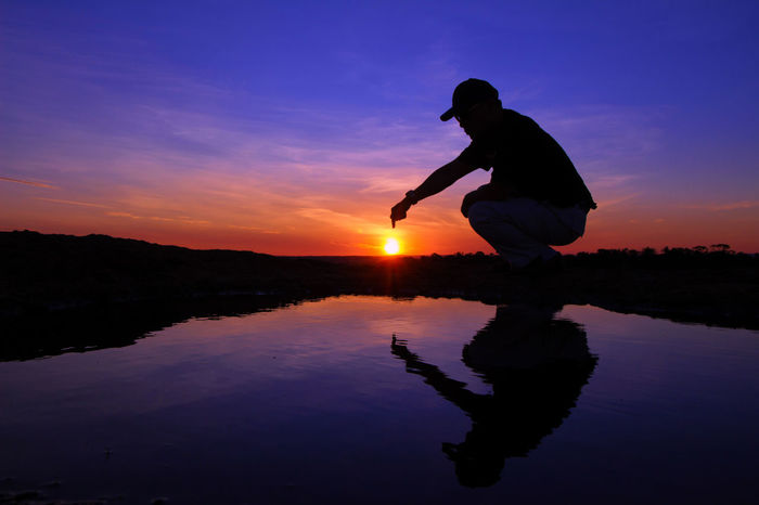 Wanderlust Australia One Person Reflection Scenics Sky Sunset Water Waverock First Eyeem Photo EyeEmNewHere