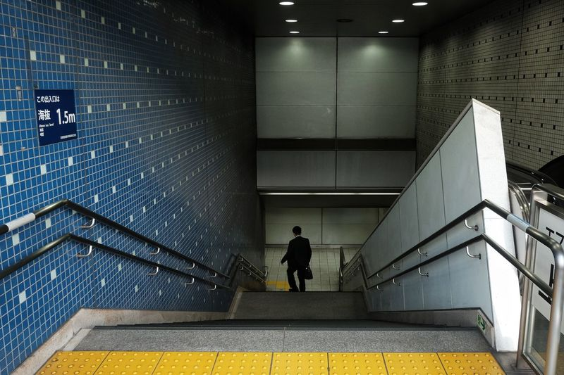 Japan 2018 The Street Photographer - 2018 EyeEm Awards Streetphotography FilipinoStreetPhotographers The Traveler - 2018 EyeEm Awards Summer Road Tripping Everydayeverywhere Staircase Architecture Steps And Staircases One Person Railing Indoors  Built Structure Transportation