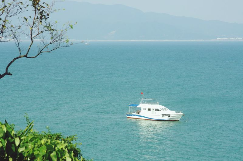 Sea Water Nautical Vessel Transportation Scenics Beauty In Nature Outdoors Nature Sky Tranquility Dapeng Taking Photos Shenzhen.China Discover Your City Nature Luzui Villa Sailing Horizon Over Water Day No People Tree Mountain