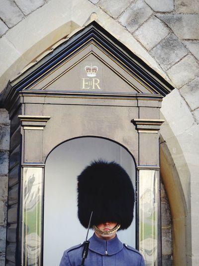 Real People One Person Architecture Men Headshot Built Structure Building Exterior Outdoors People England Windsor Castle Guard Beefeater Guarding Royal Discipline Uniform London Weapon Hat Man