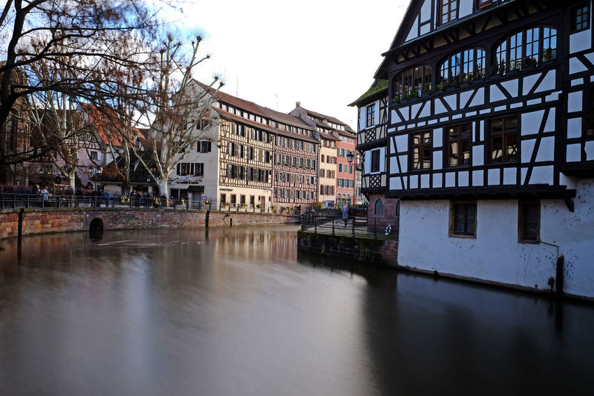 Alsace Beautiful European  France Landscape_Collection Reflection Strasbourg Architecture Building Exterior Built Structure Canal Colombages Day Europe Landscape Landscape_photography Long Exposure Nature No People Outdoors Reflections Tree Trellis Water