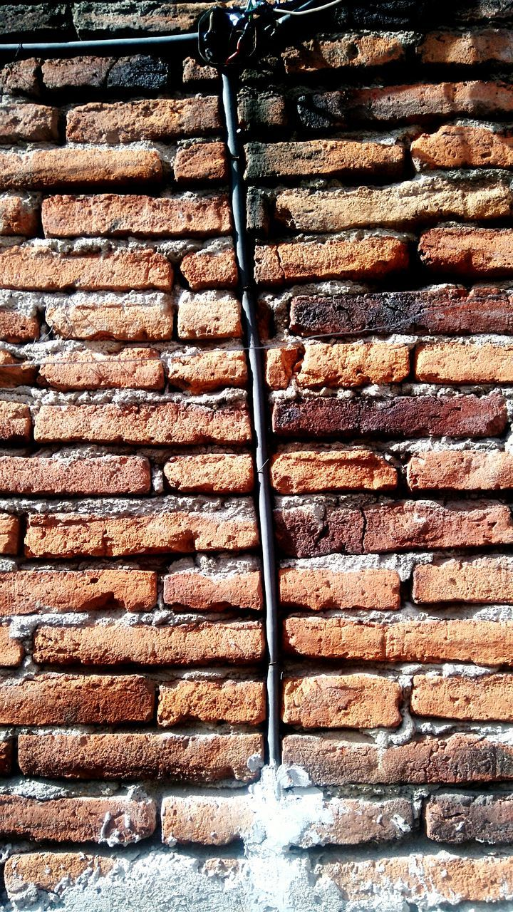 brick wall, backgrounds, full frame, day, outdoors, built structure, pattern, textured, brown, no people, architecture, close-up, building exterior