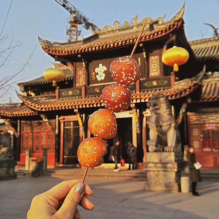 糖串儿 Human Hand Human Body Part Chinese Lantern One Person Architecture Lantern People