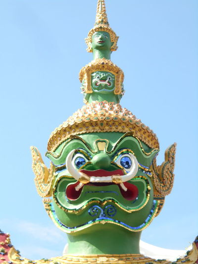 Blue Clear Sky Day Head Of Giant No People Outdoors Place Of Worship Religion Sky Spirituality Statue