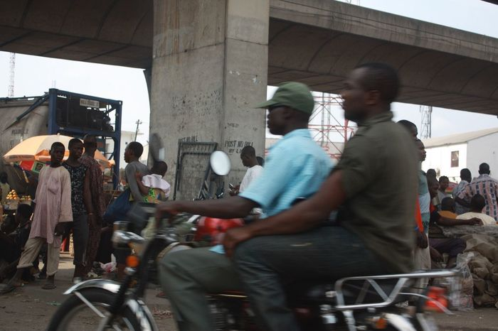 Lagos Black People Afrika Motorcycle Real People Mode Of Transportation Architecture Transportation People Street Men City