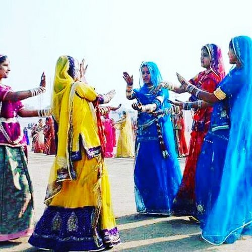 Colorful Multi Colored Dressing Up Indian Culture  I Love My India♥