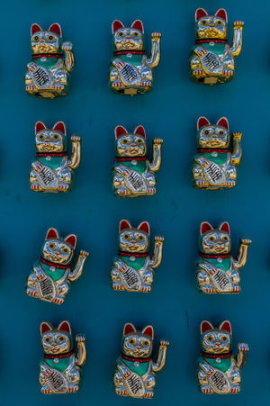 12 Amulet Animal Animal Themes Beckoning Cat Blue Cat Cats Festival Figurine  Fortune Fortune Cat Funny Cat Gato Group Japanese  Japanese Cat Little Cat Lucky Maneki-neko Manekineko Money Paws Talisman Twelve