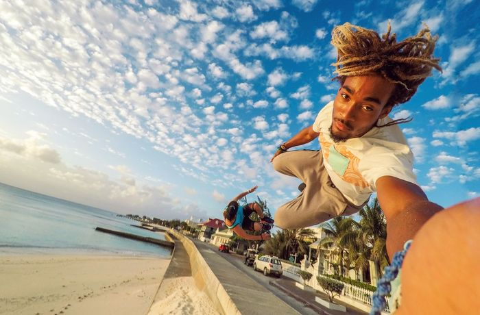 🏃sunset aerial attack under an amazing summer skyline🤸~ Sand Sky Beach Fun Motion Happiness Turksandcaicos Grandturk Paradise Summer Stunts Freerunning Acrobatics  Flips  Flying Parkour Jumping Live For The Story Go Higher