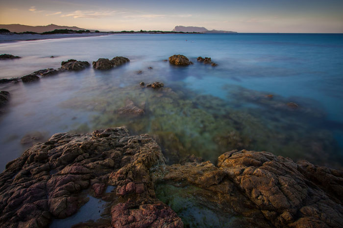 Long exposure on the sea Beach Beauty In Nature Cloud - Sky Day Horizon Over Water Landscape Long Exposure Longexposure Nature No People Outdoors Rock - Object Sardegna Scenics Sea Sea And Sky Sea Life Sea View Seascape Seaside Sky Sunset Tranquil Scene Tranquility Water