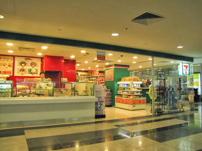 Interior of shopping mall