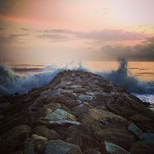 Sunset Jetty Kollam Waves danceofwaves bliss serene thoughtful awesome