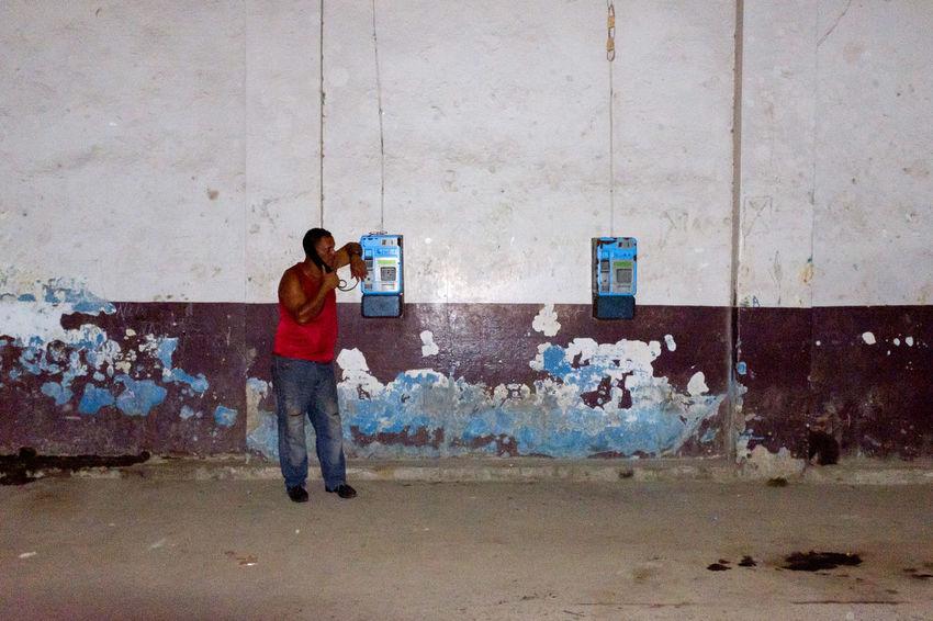 Streetphotography Street Photography Havana Havanna, Cuba Cuba Pay Phone Communication Street Art One Person Photographing Adult