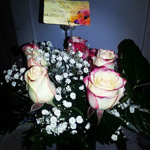 Awe my hunny had mothers day flowers sent to the house! What a nice way to wake up :) Thanks babe love you! Mothersday Igottagoodman