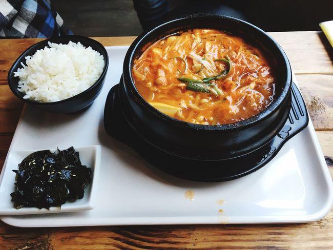 新興區 熱 晴天 臺灣 韓式料理 韓式 早午餐 午餐 Food Lunch Taiwanese 高雄 Taiwan Kaohsiung April 四月 豆腐鍋