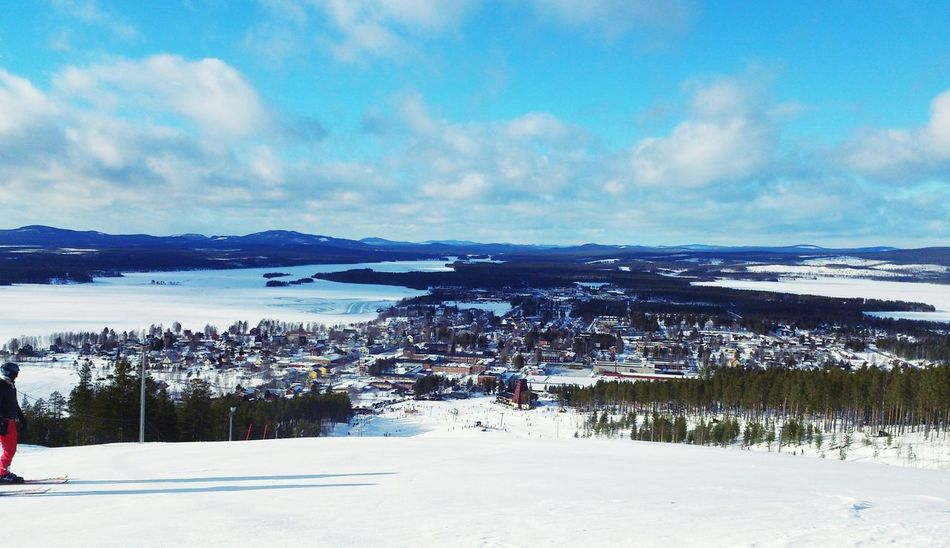 Downhill Skiing Malå in Sweden Outdoor Activity View