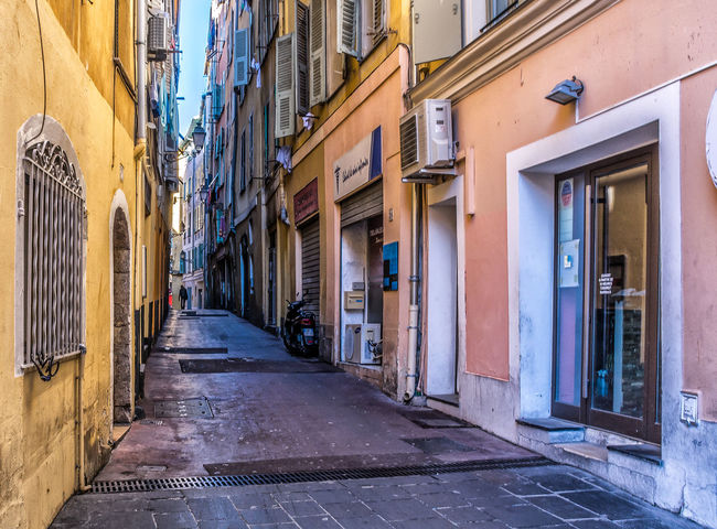 Architecture Building Exterior Built Structure City Day French Riviera No People Oldtown Outdoors Residential Building Street The Way Forward Window