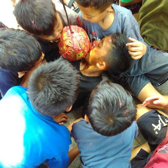 Kemeriahan Hut RI yg ke-70 d desa kami 😊😀😂 Latepos HUTRI Lomba Cemong orspeg gersik